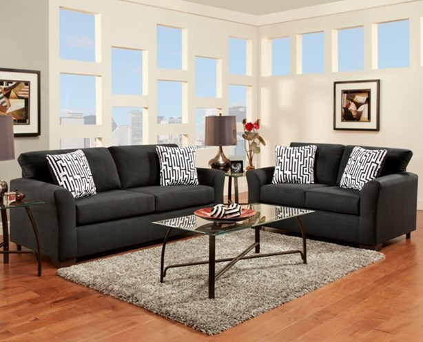 union furniture livingroom 3300 sensations black - 7-Piece Living Room Set Union Furniture Company