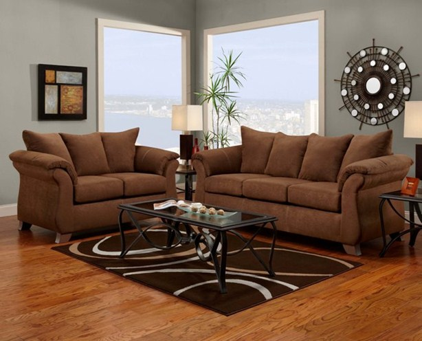 Superbe ... Union Furniture Livingroom 6700 Aruba Chocolate