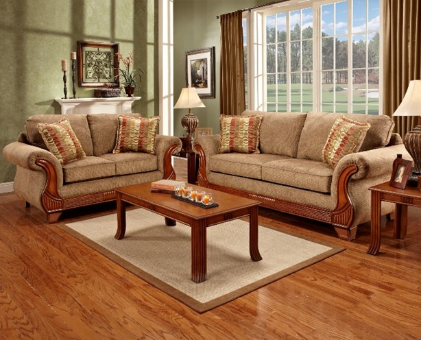 union furniture livingroom 8400 Radar Mocha - 7-Piece Living Room Set Union Furniture Company