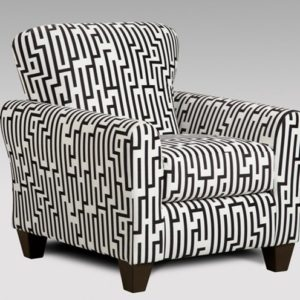Union Furniture Livingroom Chair Maze Black White
