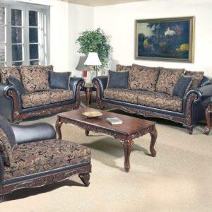 Union Furniture living room set leather black