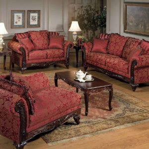 Union Furniture living room sofa loveseat red